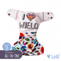 Pielucha wielorazowa, AIO (All-In-One) OS, I <3 Wielo, Lulli