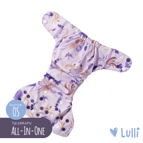 Pielucha wielorazowa, AIO (All-In-One) OS, Lawenda, Lulli
