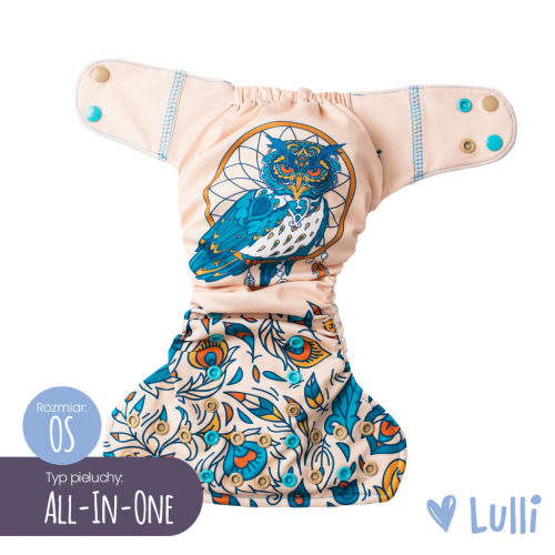 Pielucha wielorazowa, AIO (All-In-One) OS, Sowa, Lulli